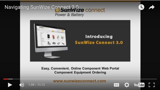 Overview SunWize Connect 3.0