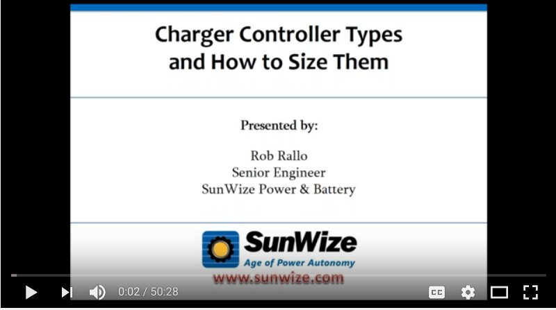 charger controller types and how to size them
